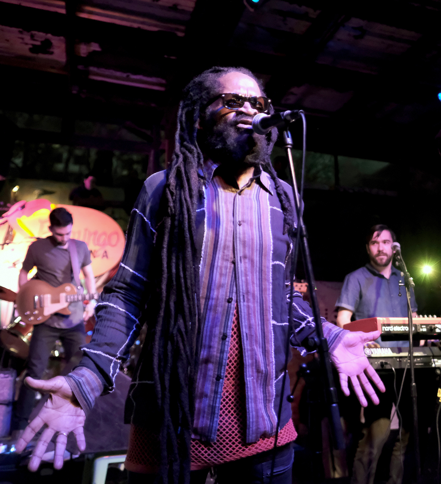 Spiritual of Spiritual & the Oufah band performs onstage at SXSW presents Reggae at Flamingo Cantina.