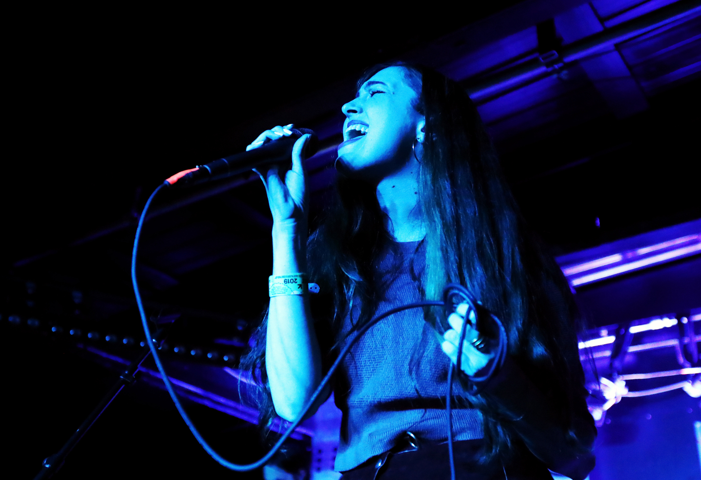 Madeline Follin of Cults performs onstage at Disco @ SXSW at JW Marriott.