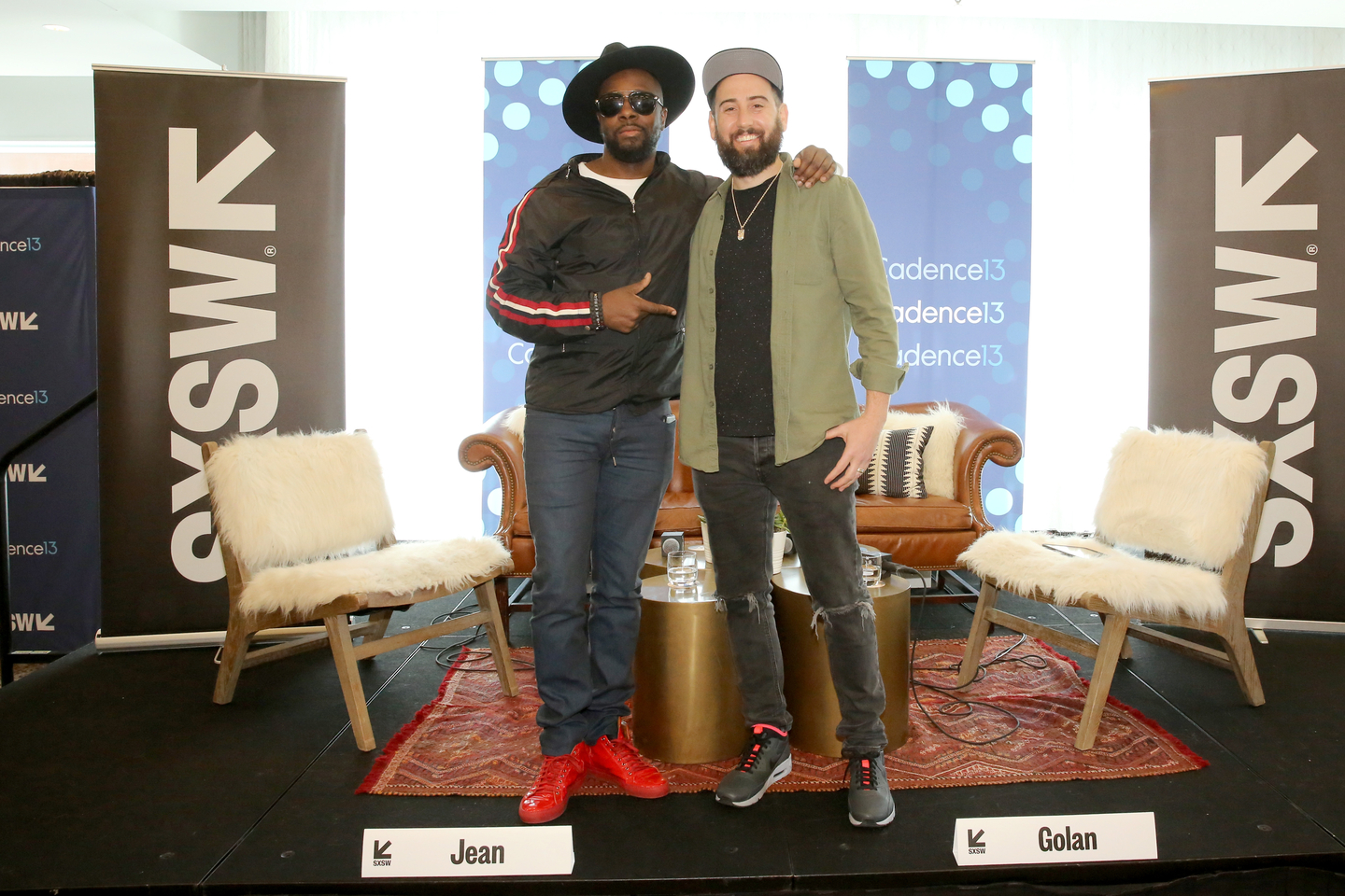 Wyclef Jean and Ross Golan attend And The Writer Is... Podcast at the JW Marriott.