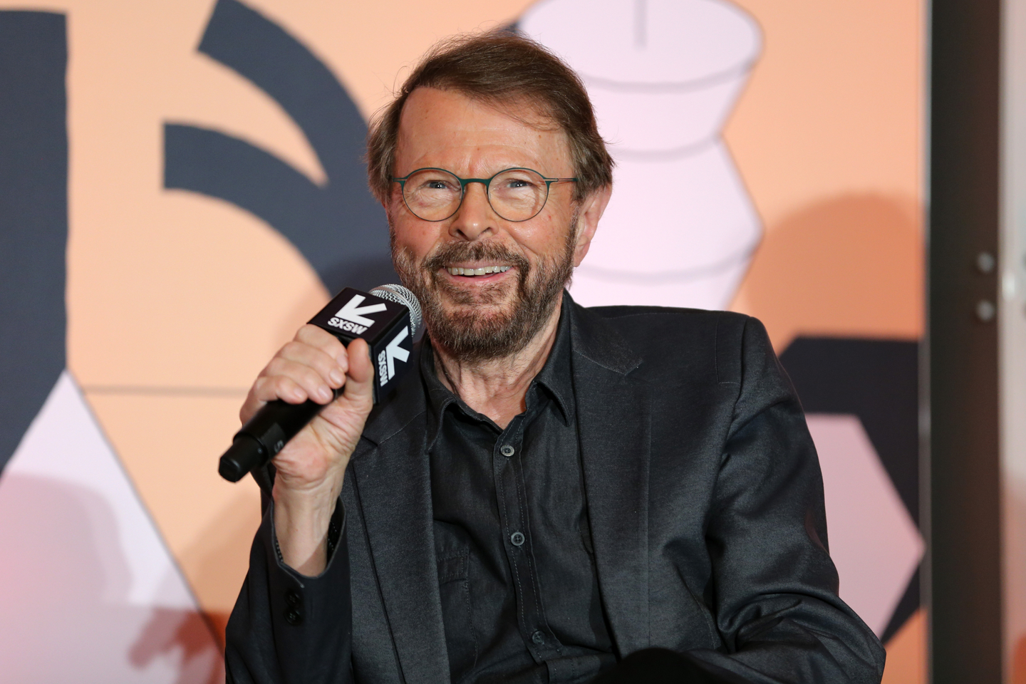 Bjorn Ulvaeus speaks onstage at his Featured Session: Creator Credits: Providing the Missing Link.
