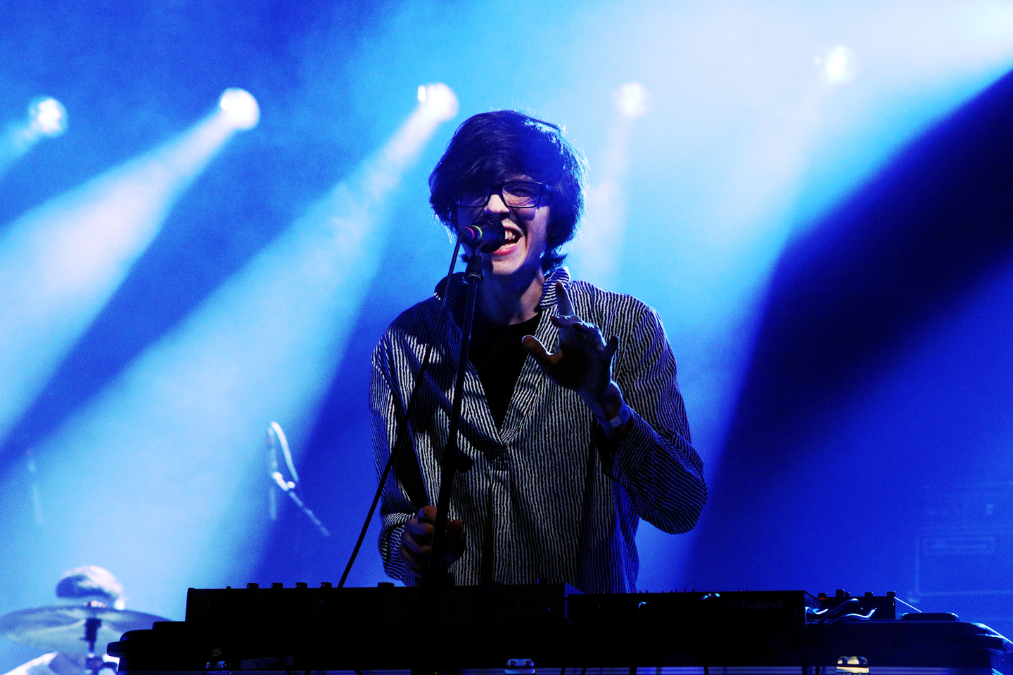 Will Toledo of Car Seat Headrest performs onstage at the Ticketmaster Music showcase at Stubb's.