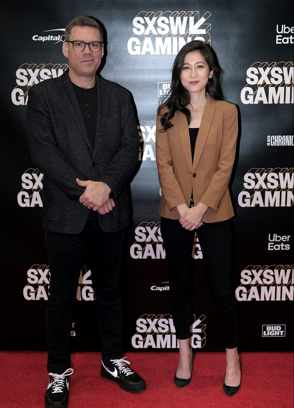 Nate Nanzer and Mina Kimes at The Evolution of the Overwatch League Featured Session. Photo by Hubert Vestil/Getty Images for SXSW