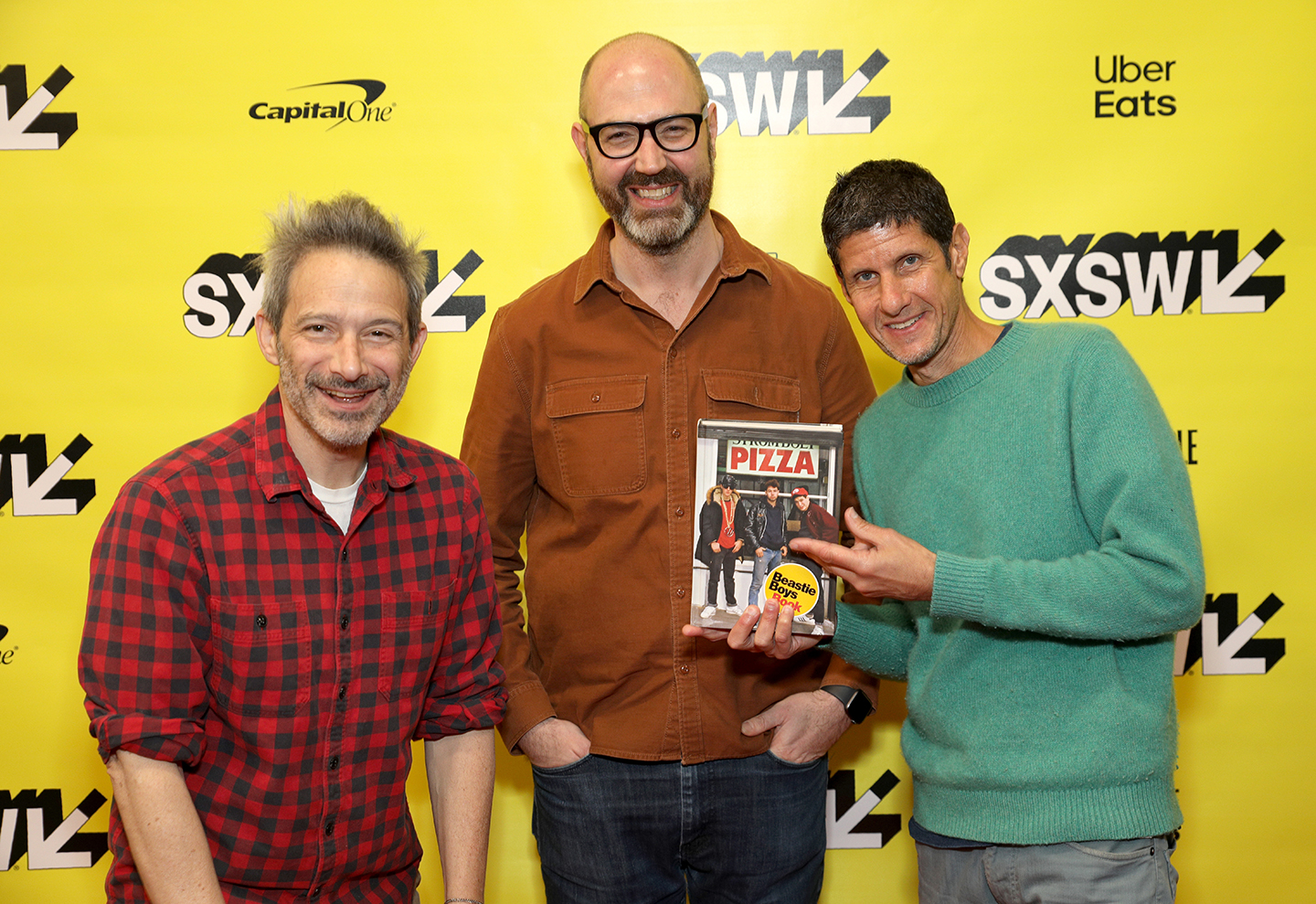 (L-R) Adam Horovitz, Nathan Brackett, and Michael Diamond at their Music Keynote – Photo by Mike Jordan/Getty Images for SXSW