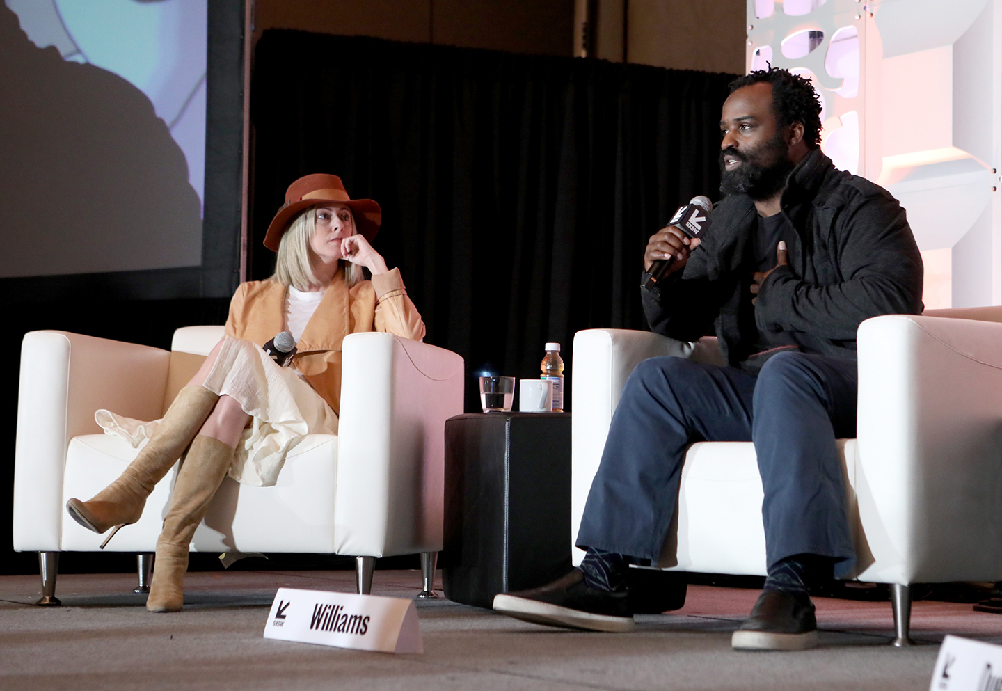 Linnea Miron and Ricky Williams at their Featured Session: Cannabis and Wellness: The Body and Beyond – Photo by Samantha Burkardt/Getty Images for SXSW