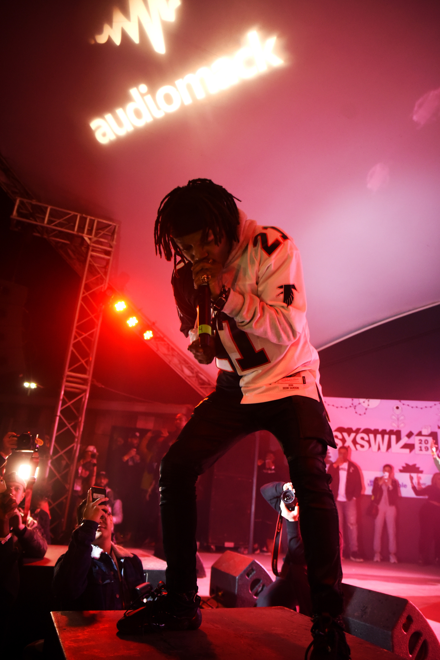J.I.D peforms onstage at DNES Marketing showcase at Stubb's.