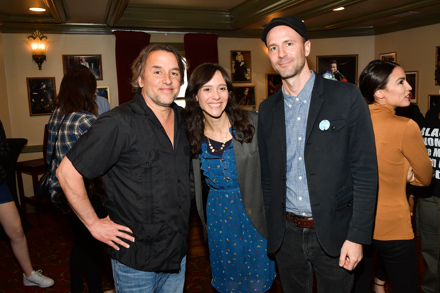 Richard Linklater, Rachel Lears, Robin Blotnickand Alexandria Ocasio-Cortez, attend the Knock Down The House Premiere at the Paramount Theatre.