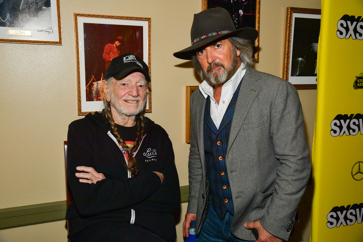 Willie Nelson and John Fusco attend