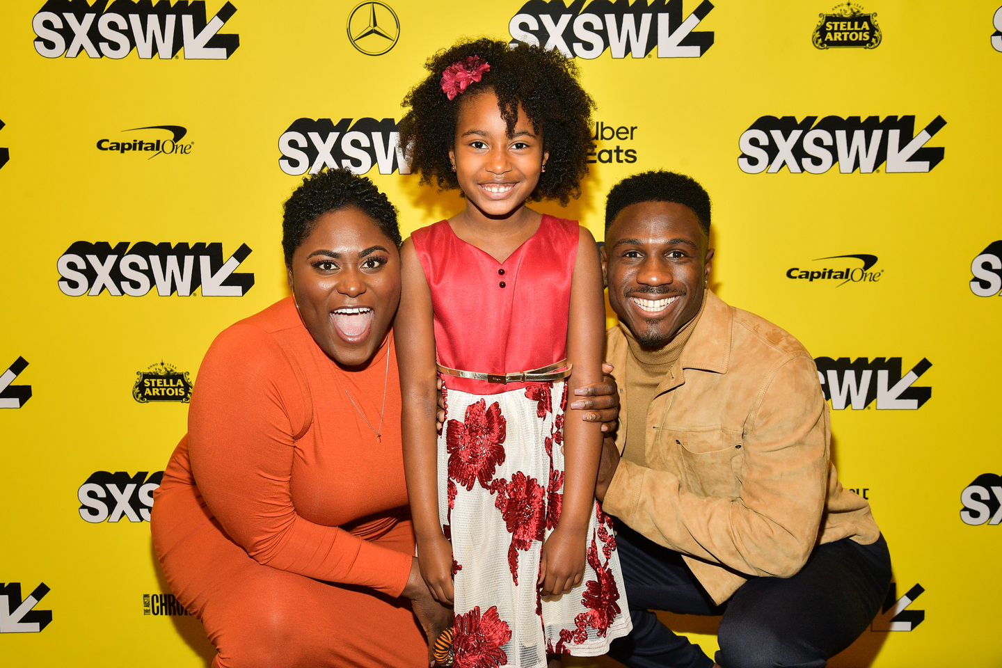 Danielle Brooks, Calah Lane, and Marchánt Davis attend the The Day Shall Come premiere at the Paramount Theatre.