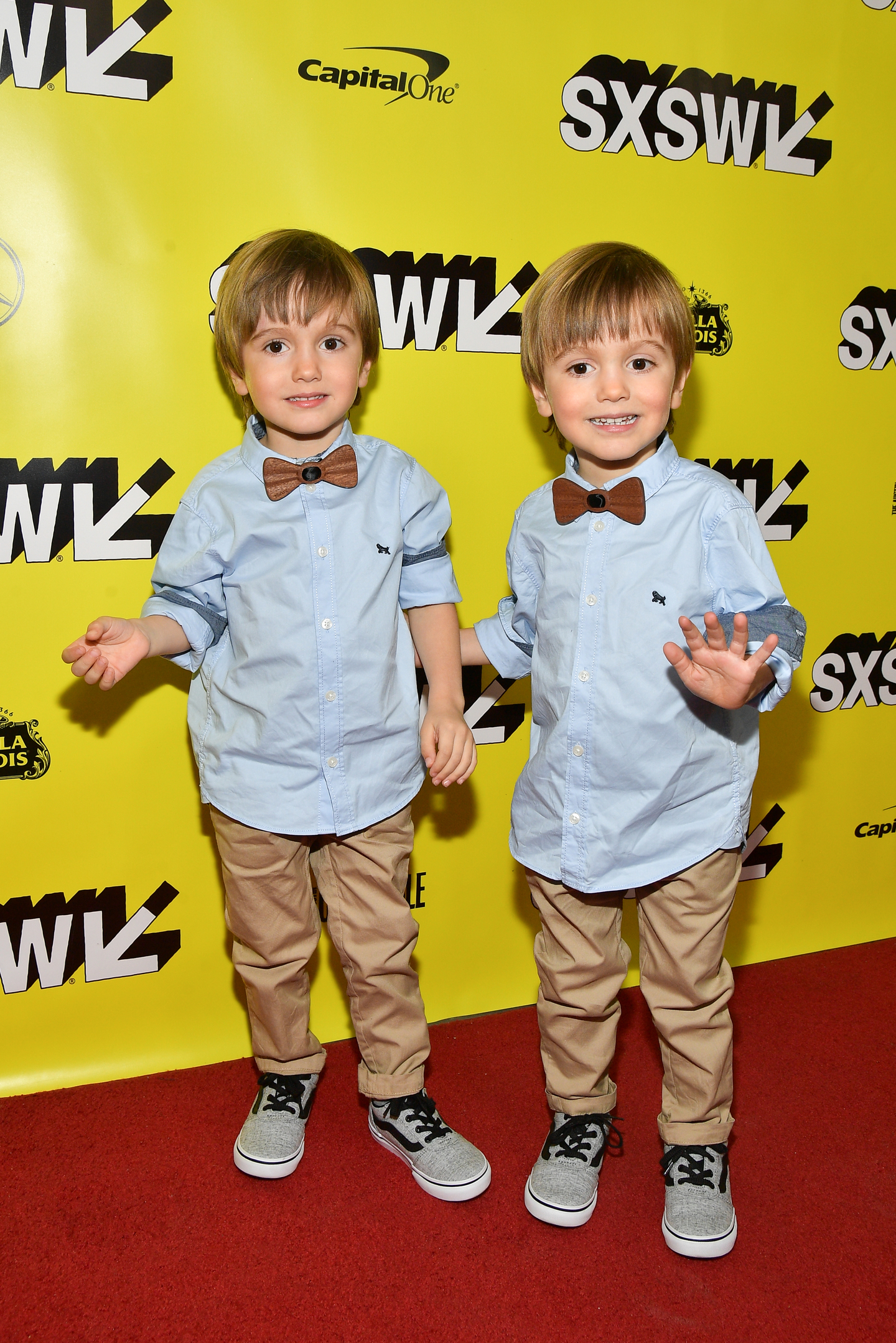 Hugo Lavoie and Lucas Lavoie attends the Pet Sematary premiere at the Paramount Theatre.