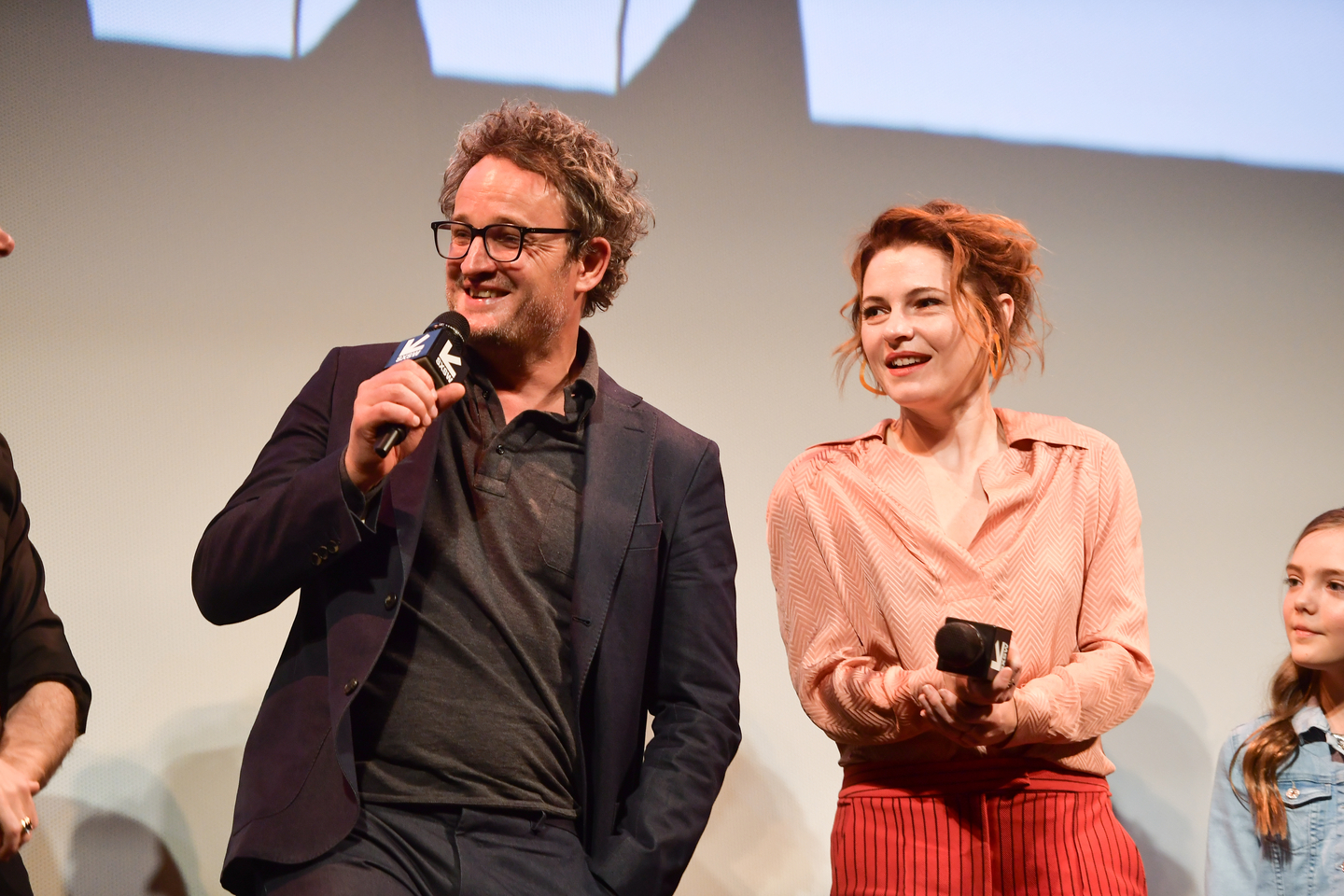 Jason Clarke and Amy Seimetz attend the Pet Sematary premiere at the Paramount Theatre.