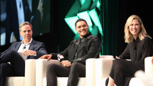 Featured Session: The Daily Show with Trevor Noah, Jake Tapper, Trevor Noah, and Desi Lydic at their Featured Session.