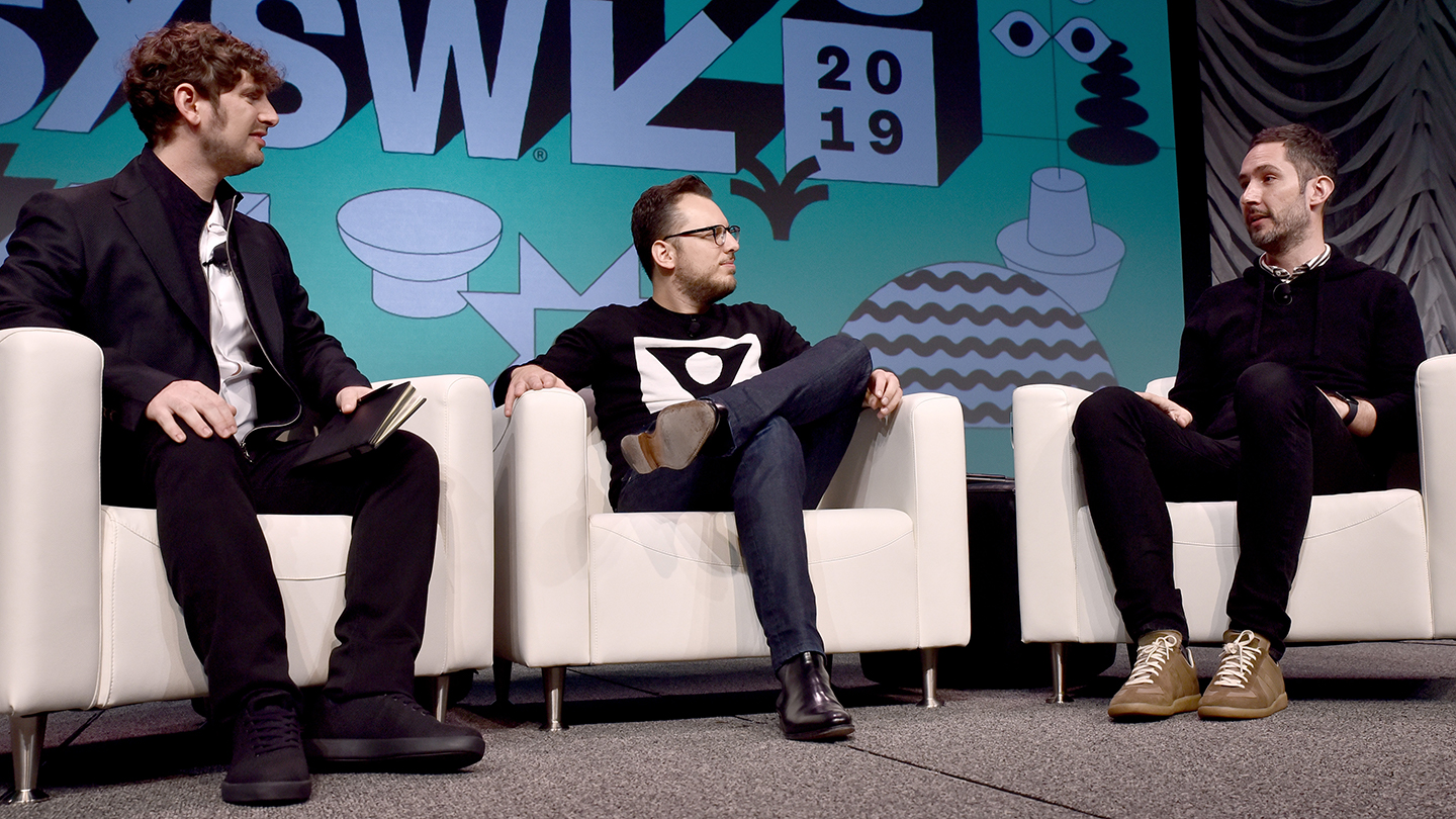 Interactive Keynotes Kevin Systrom & Mike Krieger with Josh Constine - 2019 - Photo by Chris Saucedo