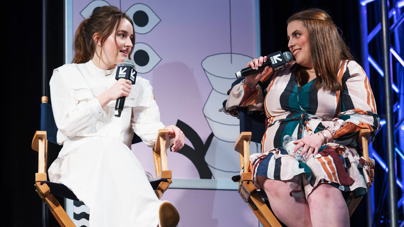 Kaitlyn Dever and Beanie Feldstein at the Booksmart Women Panel - Photo by JD Lewis