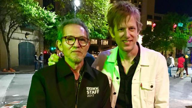 Hiroshi Asada with Britt Daniel of Spoon