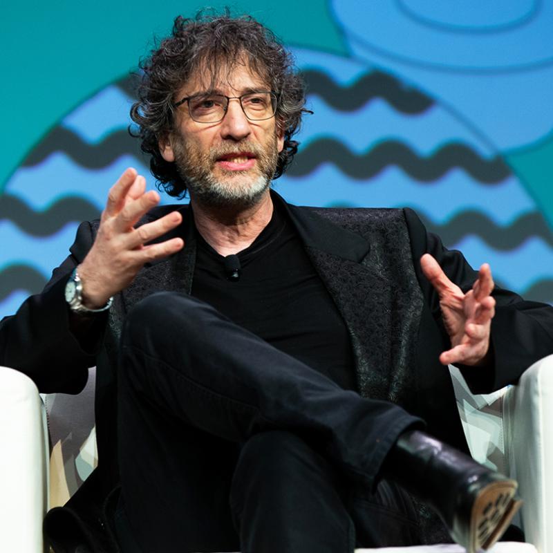 2019 SXSW Featured Speaker, Neil Gaiman – Photo by Alexa Gonzalez Wagner