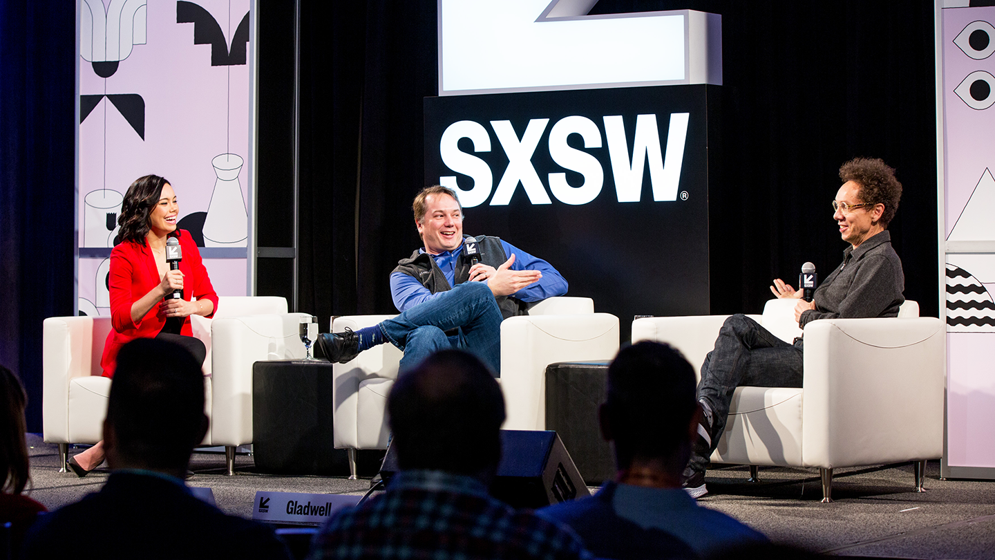 2019 Featured Speakers, Malcolm Gladwell and Chris Urmson – Photo by Akash Kataria