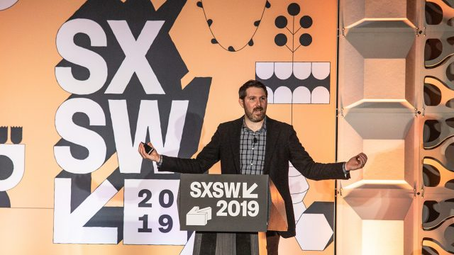 What Does Healthy Technology Look Like? Eli Pariser at SXSW 2019 - Photo by Sofie Milton