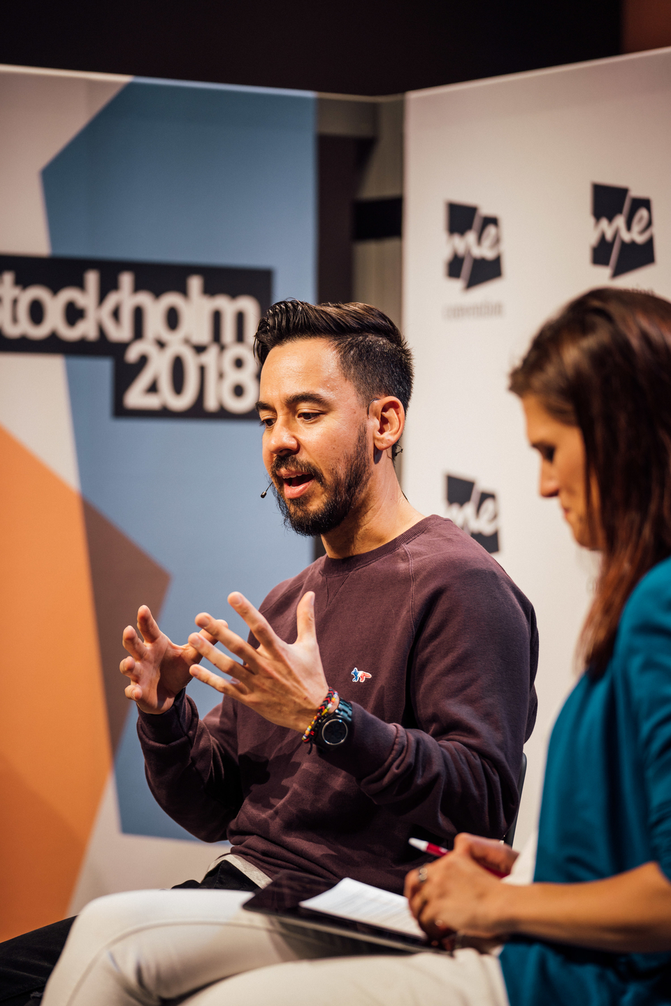 Mike Shinoda of the band Linkin Park during
