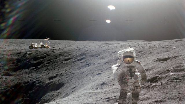 Charlie Duke on the moon: April 21, 1972. Courtesy of NASA on The Commons