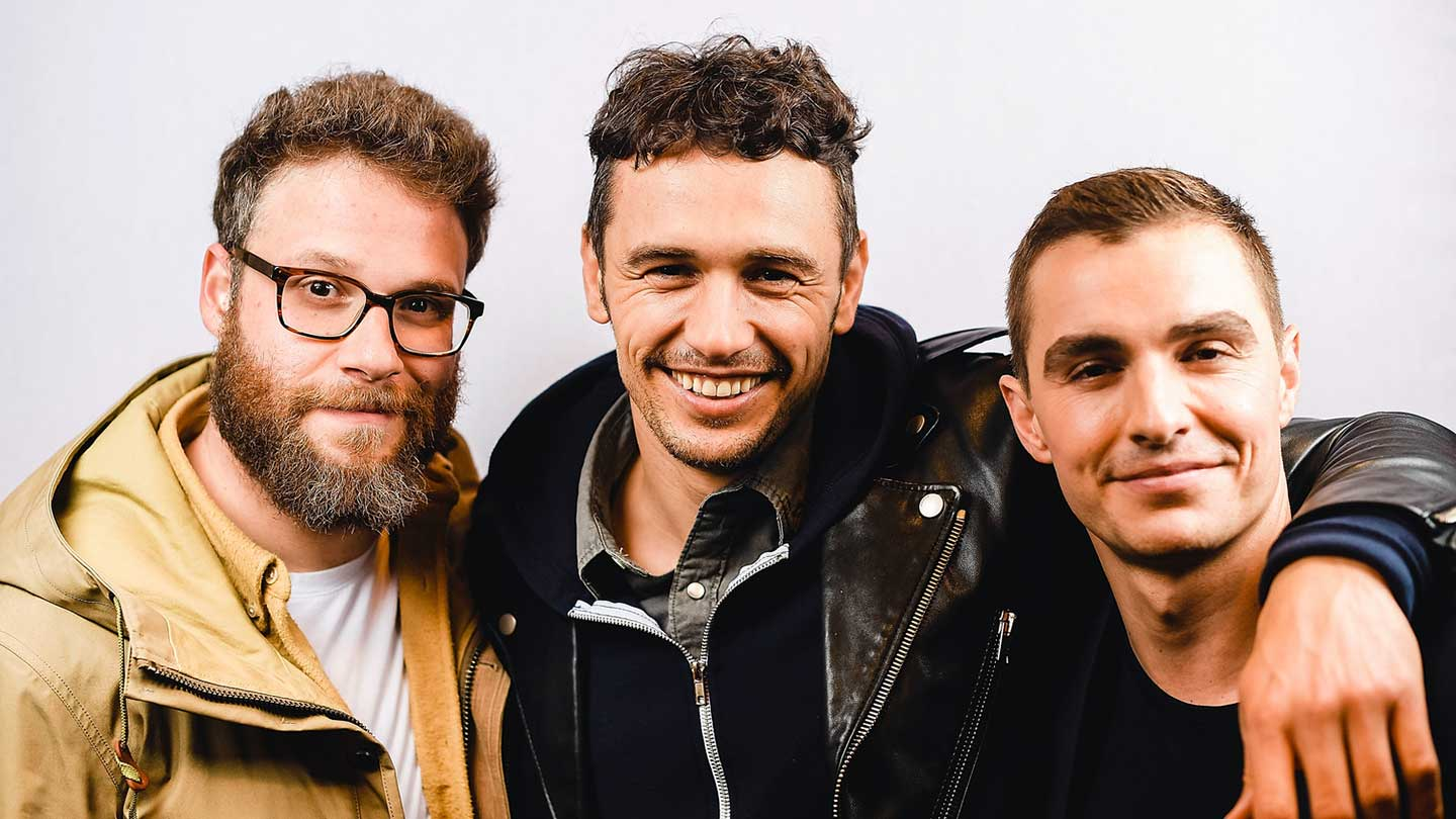 Seth Rogen, James Franco, and Dave Franco pose for a portrait at The Disaster Artist's SXSW screening