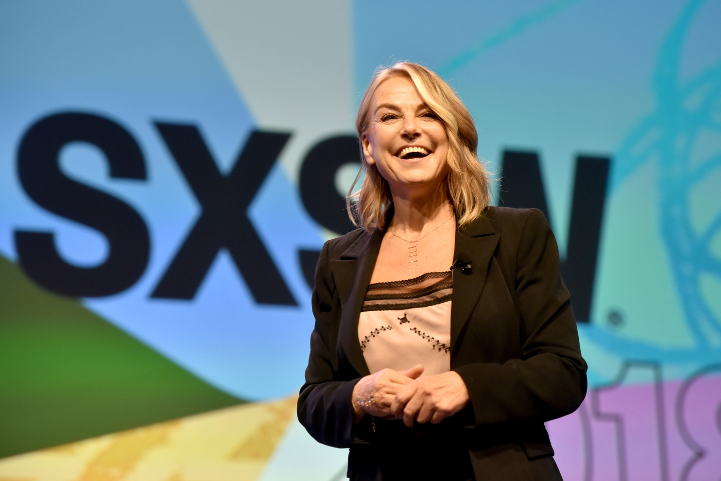 Esther Perel speaks onstage as SXSW 2018 Interactive Keynote. Photo by Amy E. Price/Getty Images for SXSW