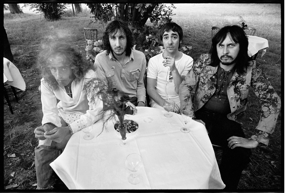 The Who at Keith Moon's House for Who's Next Record Release Party. July 1971, © Alec Byrne.