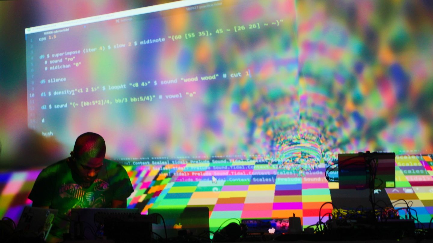 Algorave. Photo by Antonio Roberts