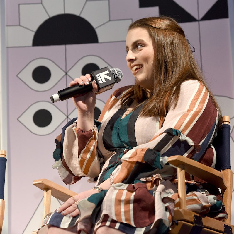AUSTIN, TX - MARCH 11: Beanie Feldstein speaks onstage at Featured Session: