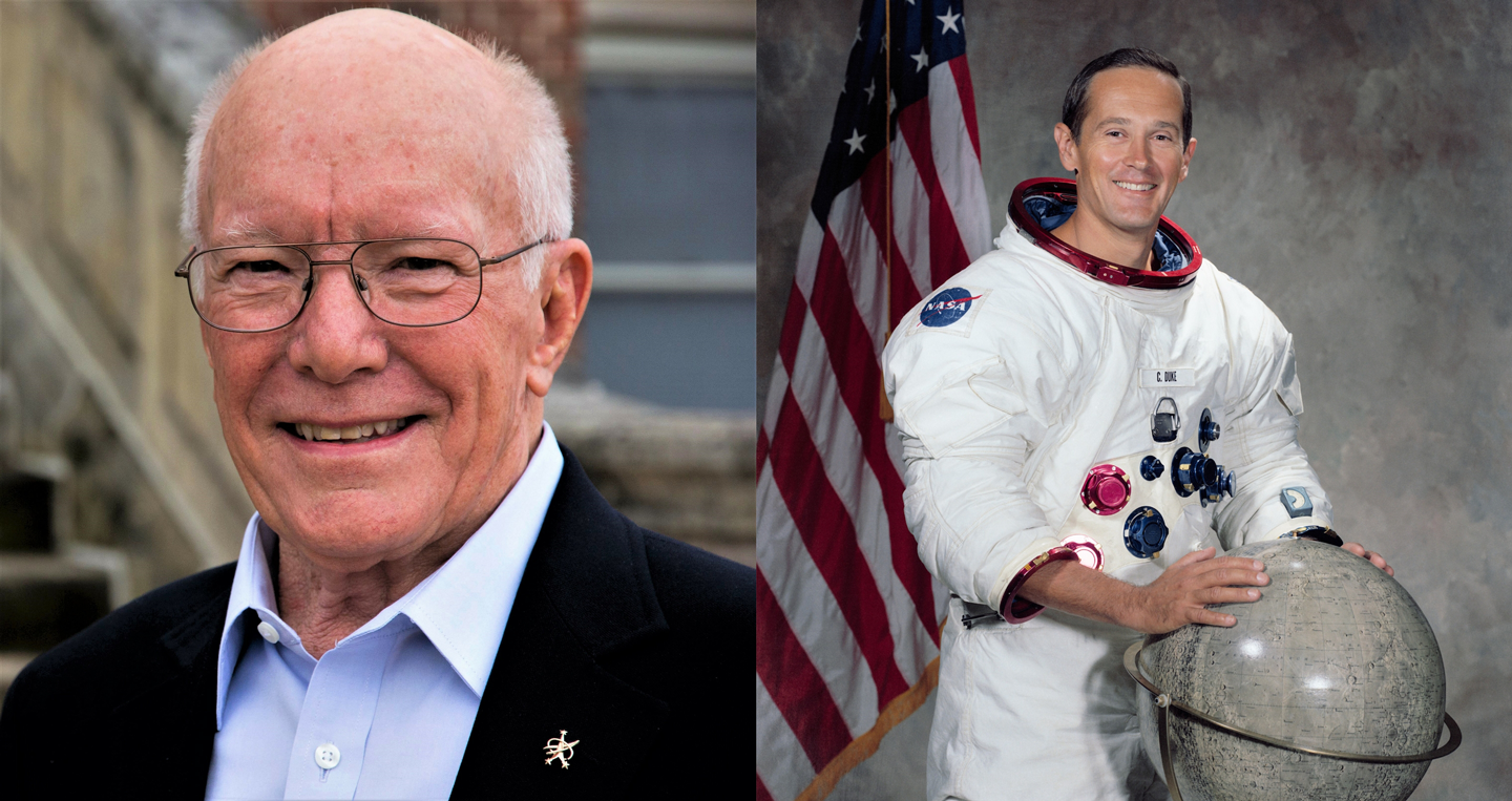Gerry Griffin (Left) and Charlie Duke (Right). Courtesy of NASA on The Commons