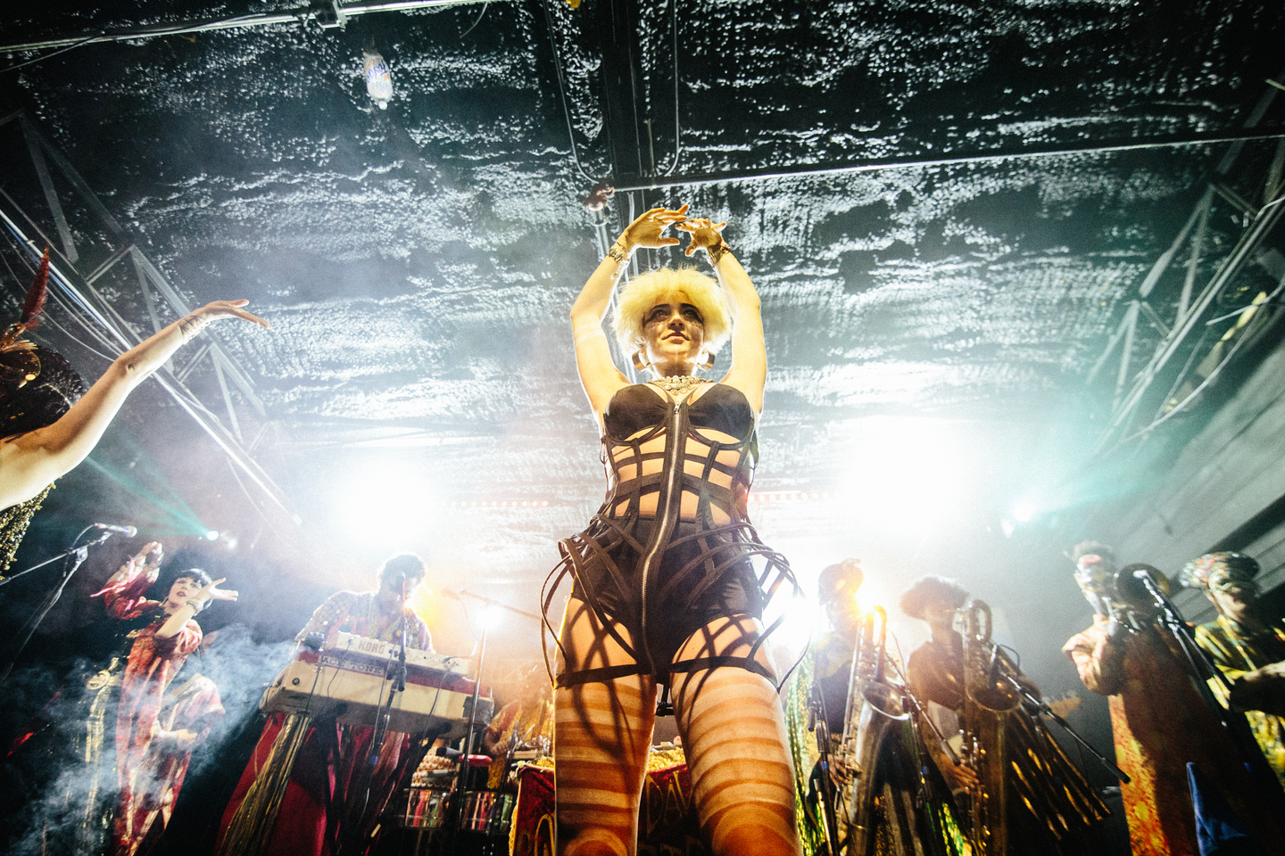 Golden Dawn Arkestra, presented by Meow Wolf: Fractallage. Photo by Alexa Gonzalez Wagner