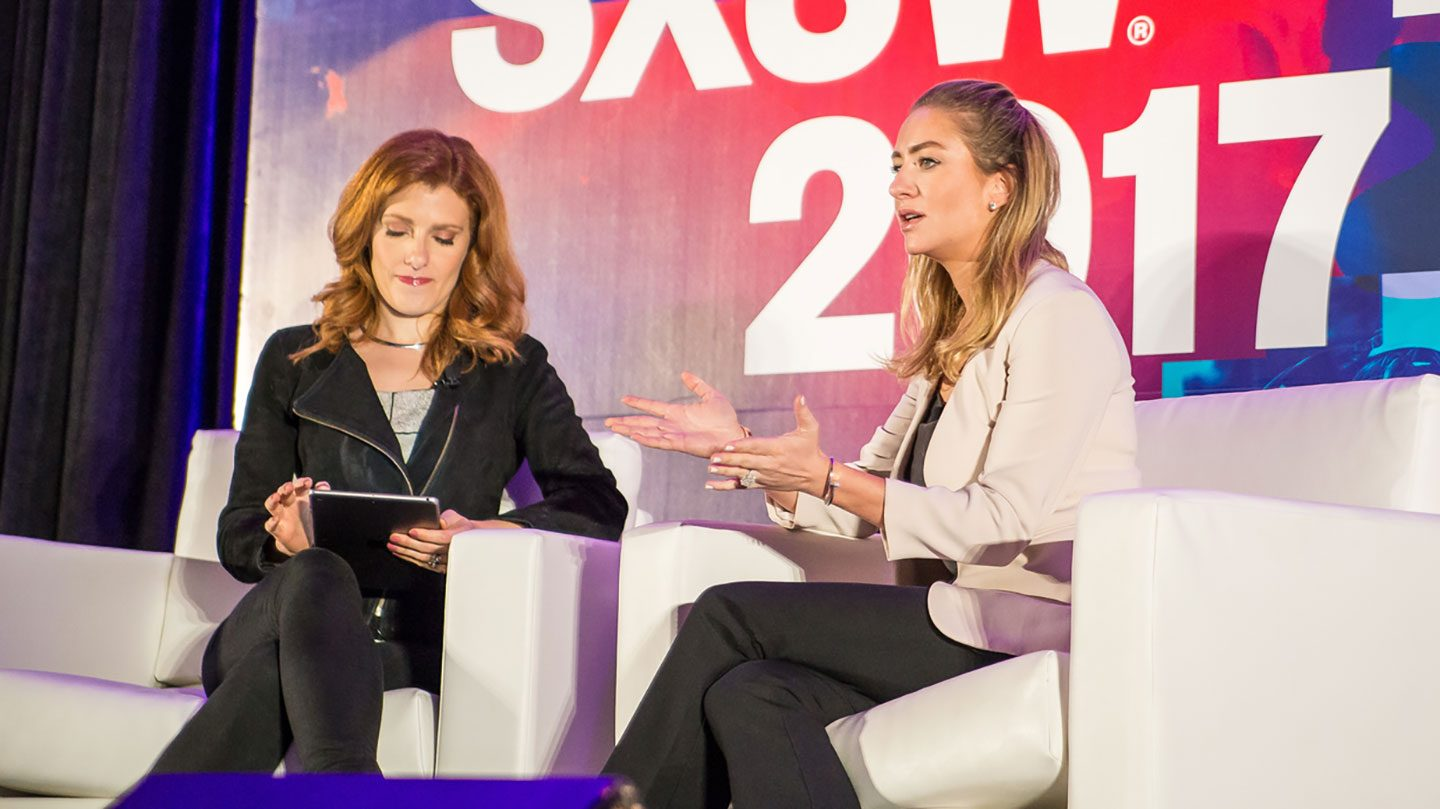 Whitney Wolfe (R) during
