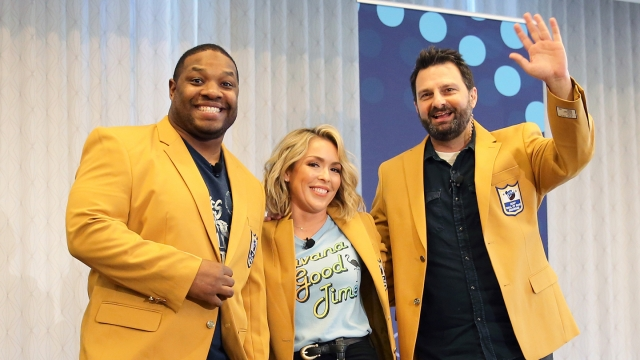 (L-R) Maurice Jones-Drew, Colleen Wolfe, and Dave Dameshek attend The Dave Dameshek Football Program Podcast - Photo by Diego Donamaria/Getty Images for SXSW