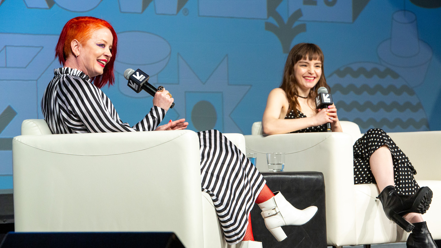 Music Keynotes Shirley Manson & Lauren Mayberry with Puja Patel - Photo by Errich Petersen