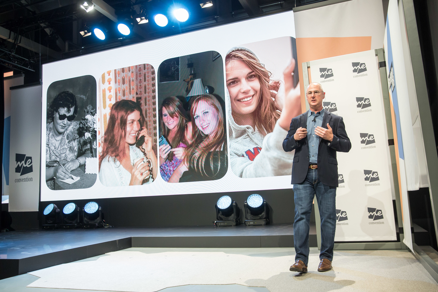 """Steve Horowitz, Vice President of Technology for Snap Inc., during his session: """"The Creative Camera: How Reimagining the Camera Empowers Self-expression and New Ways to Experience the World."""" Photo by Markus Nass/Daimler AG"""