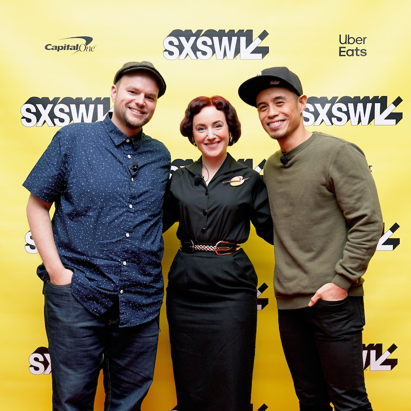 AUSTIN, TX - MARCH 10: (L-R) Josh Holtsclaw, Deanna Marsigliese, and Paul Abadilla attend Featured Session: Designing for Films at Pixar Animation Studios during the 2019 SXSW Conference and Festivals at Austin Convention Center Austin on March 10, 2019 in Austin, Texas. (Photo by Ismael Quintanilla/Getty Images for SXSW)