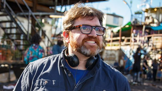 Ernest Cline on the set of Ready Player One. Photo by Jaap Buitendijk