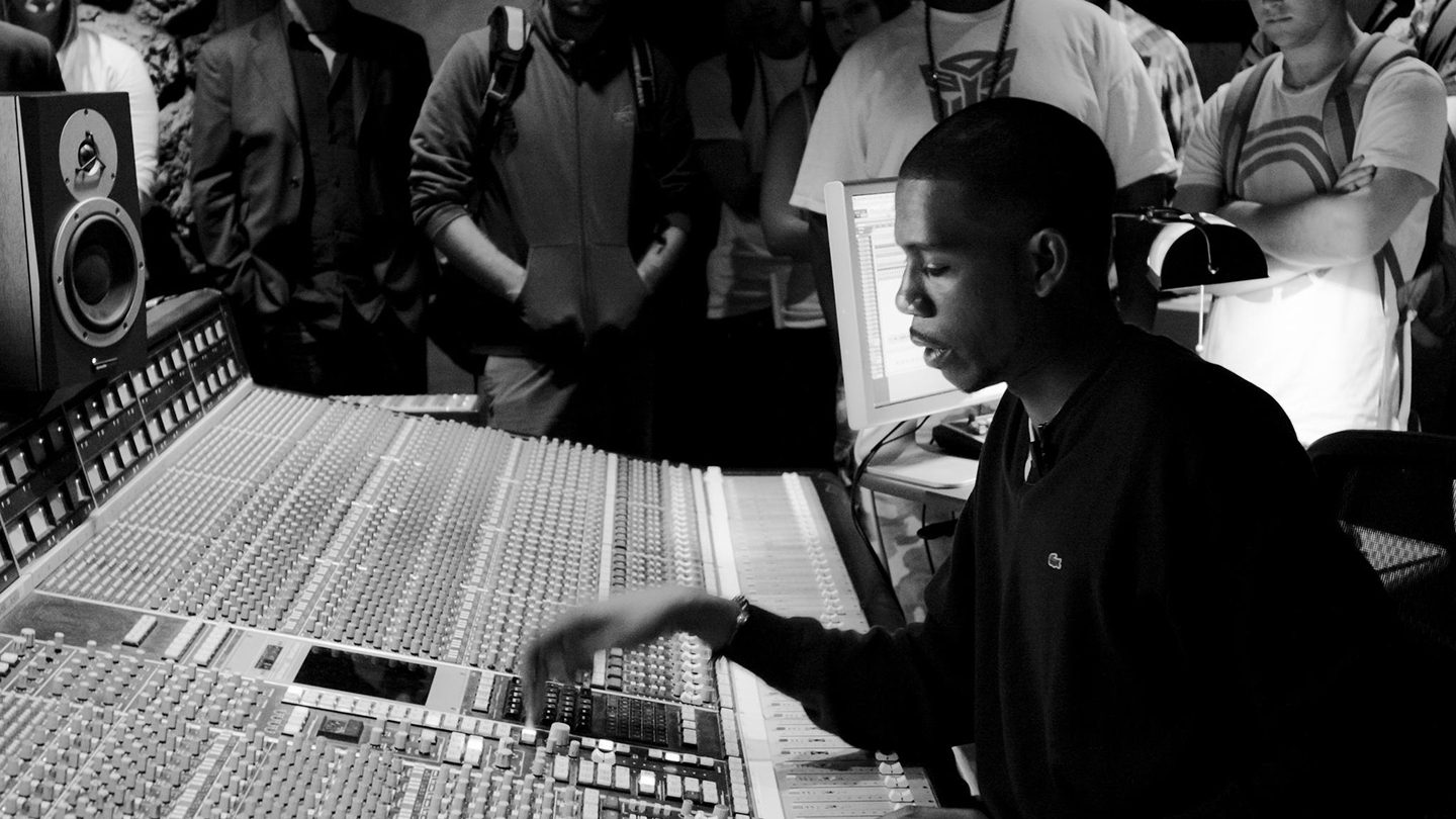 Young Guru at the controls.
