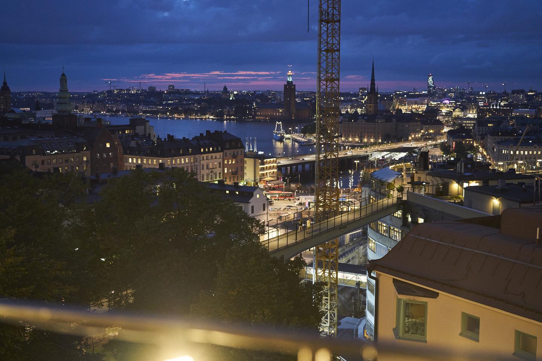 Stockholm's evening skyline. Photo by Richard Pflaume/Daimler AG