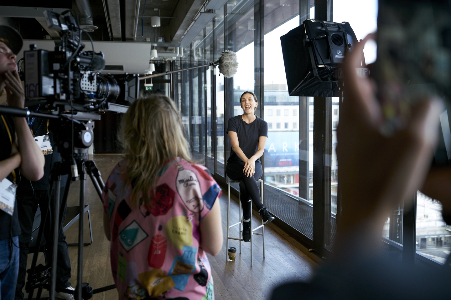 An interview with Adriene Mishler. Photo by Richard Pflaume/Daimler AG