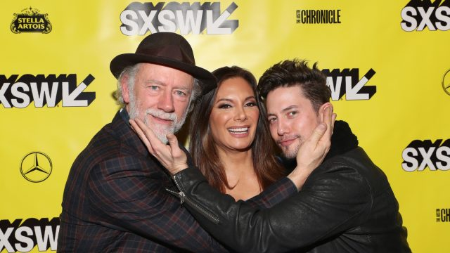 (L-R) Xander Berkeley, Alex Meneses, and Jackson Rathbone at The Wall of Mexico World Premiere – Photo by Hutton Supancic/Getty Images for SXSW