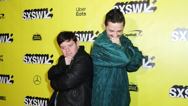 (L-R) Zack Gottsagen and Shia LaBeouf at The Peanut Butter Falcon World Premiere – Photo by Diego Donamaria/Getty Images for SXSW