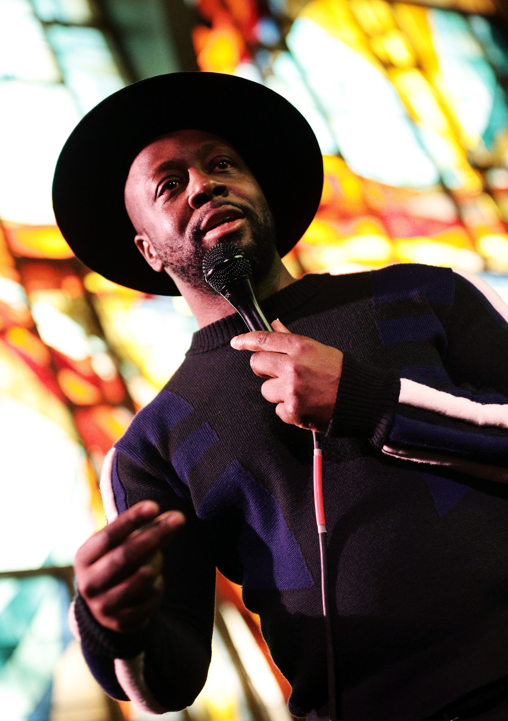 Wyclef Jean at The Tiny Desk Family Hour at Central Presbyterian Church – Photo by Steve Rogers Photography/Getty Images for SXSW