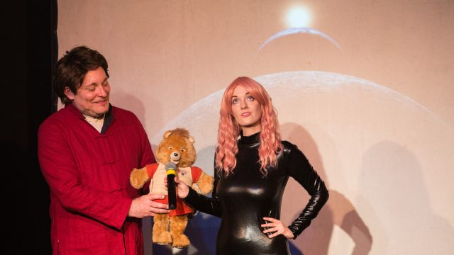 Elon Musk Comedy Keynote: The Frightening and Awful Future of Humanity – Photo by Cal Holman