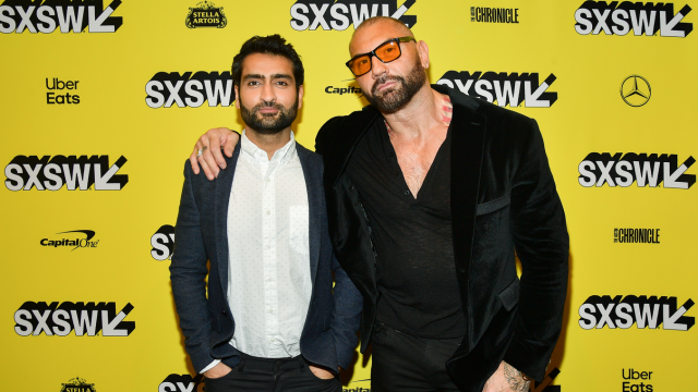 Kumail Nanjiani and Dave Bautista at the screening for Stuber - Photo by Matt Winkelmeyer/Getty Images for SXSW