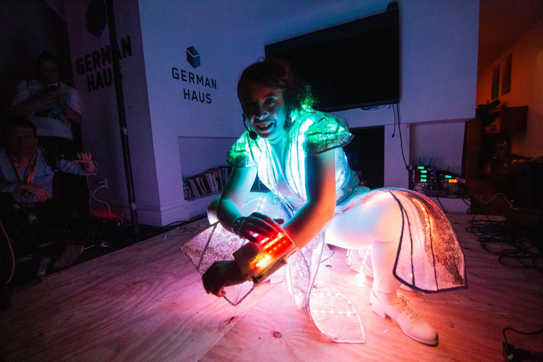 Laura Kriefman at Graeber House, presented by German Haus – Photo by Alexa Gonzalez Wagner