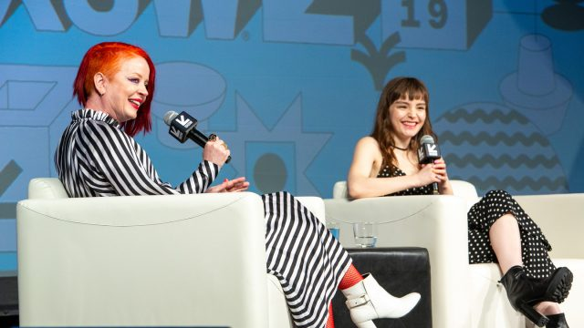 Shirley Manson and Lauren Mayberry at their Music Keynote – Photo by Errich Petersen