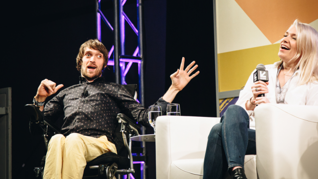 Zach Anner during the Inside the Modern Day Writer's Room Session - Photo by Kaylin Balderrama