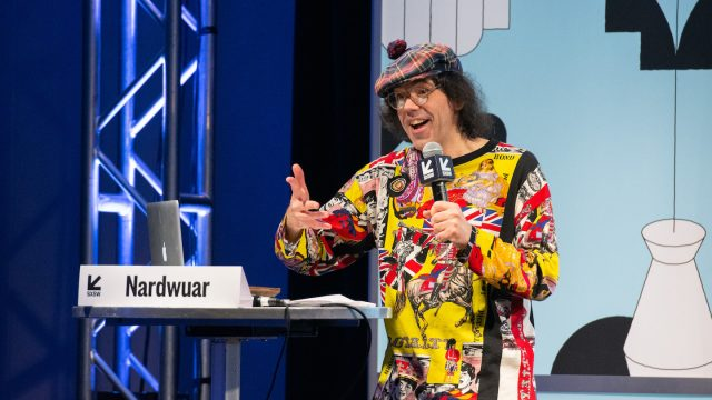 Nardwuar - Photo by Camille Mayor