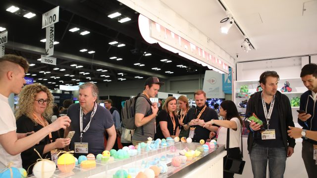 SXSW 2019 booths from the Trade Show, Wellness Expo, Gaming Expo, Marketplace, and Flatstock.