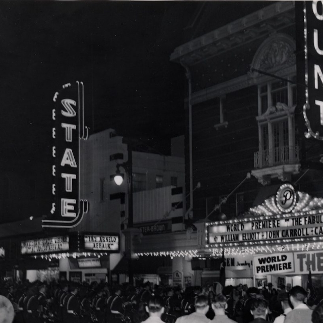 World premiere of The Fabulous Texan at the Paramount Theatre in 1947.